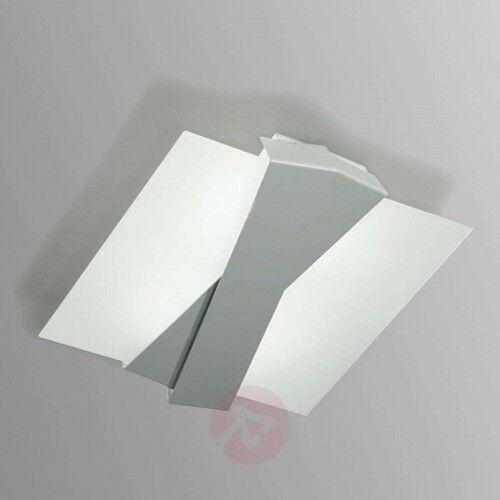 Linea light Nowoczesna lampa sufitowa zig zag aluminium