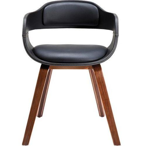 KARE Design:: Krzesło Costa Walnut - brązowe nogi, czarne siedzisko, kolor brązowy