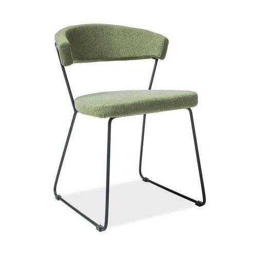 Signal meble Krzesło helix czarny/zielony tap.83