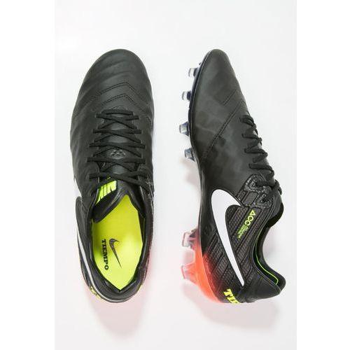 Nike Performance TIEMPO LEGEND VI FG Korki Lanki black/white/hyper orange/volt z kategorii Piłka nożna