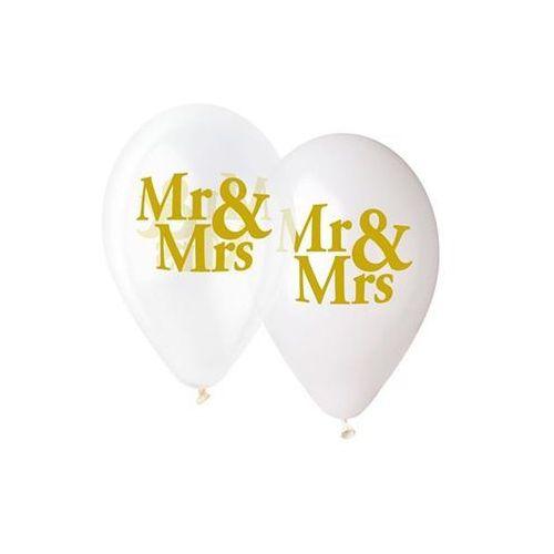 Go Balony lateksowe z nadrukiem weselnym mr&mrs - 33 cm - 5 szt.