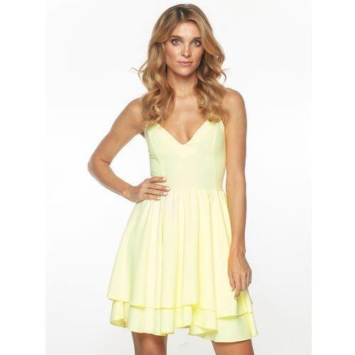 Sugarfree.pl Sukienka lena w kolorze żółtym