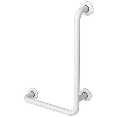 Faneco Uchwyt dla niepełnosprawnych kątowy ⌀ 32 600 x 400 mm stalowy biały