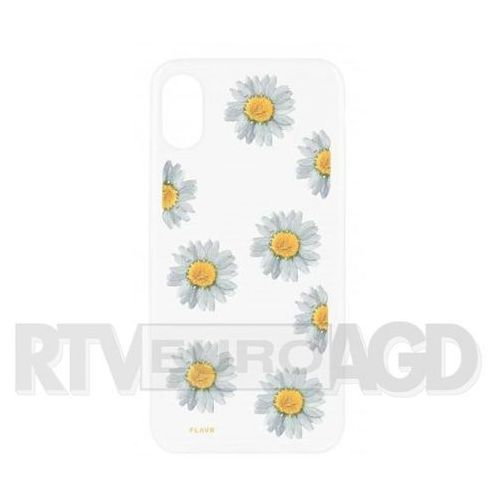 Etui iplate real flower daisy do apple iphone x wielokolorowy (30110) marki Flavr