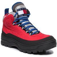 Kozaki TOMMY JEANS - Hilfiger Expedition Mens Boot EM0EM00301 Tango Red XCN, kolor czerwony