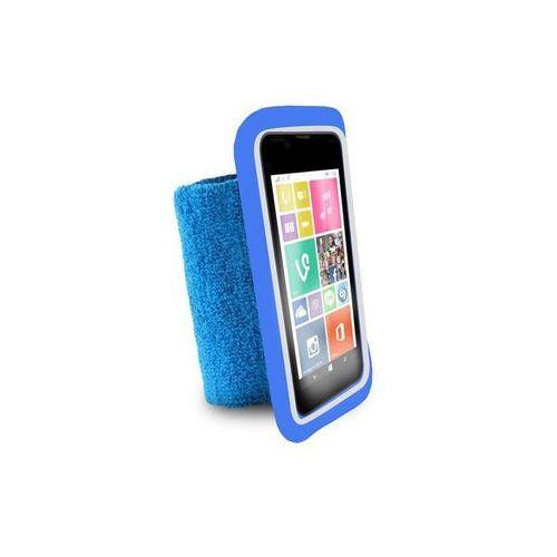 """Puro  running band - uniwersalna frotka do biegania do smartfonów max 4.3"""" + key pocket (niebieski)"""
