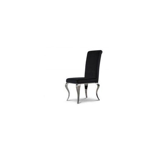 Krzesło tapicerowane Premier - stal oksydowana nowoczesny glamour, Premier/KRZO/black