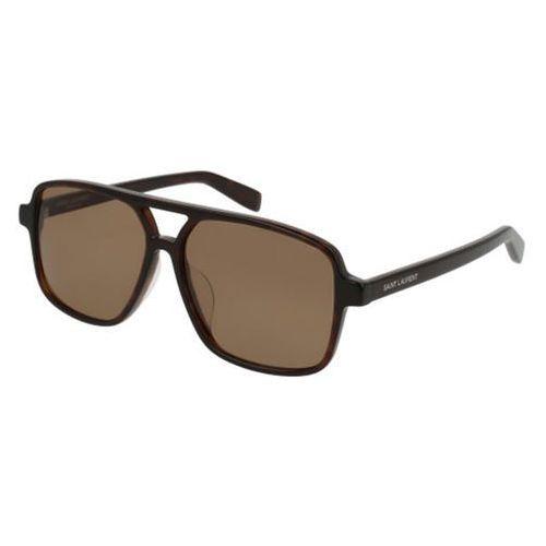 Okulary słoneczne sl 176/f asian fit 002 marki Saint laurent