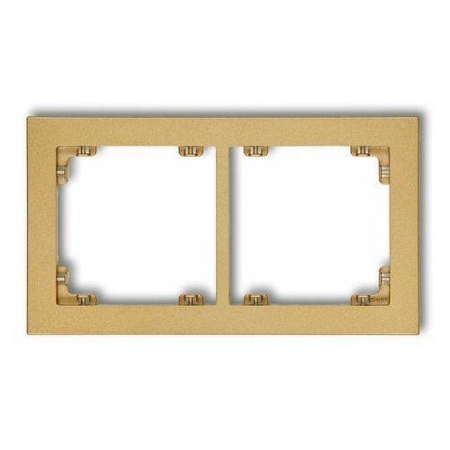 DECO Ramka uniwersalna podwójna z tworzywa złoty 29DR-2