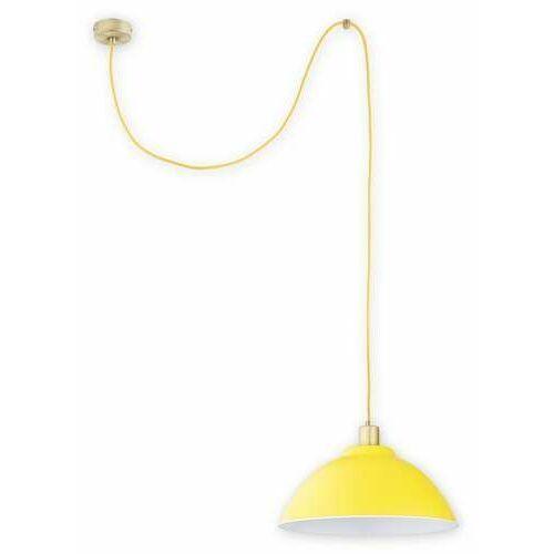 Lemir zts o2831 w1 pat + zol [d] lampa wisząca zwis 1x60w e27 patyna+żółty (5902082869542)