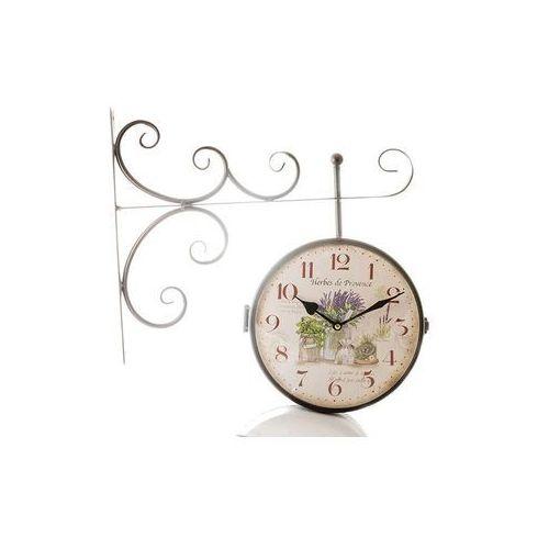 Home Zegar wiszący do powieszenia dwustronny lawenda
