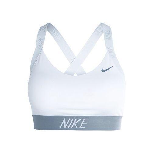 Nike Performance PRO INDY LOGO BACK BRA Biustonosz sportowy white/pure platinum/cool grey, 858583