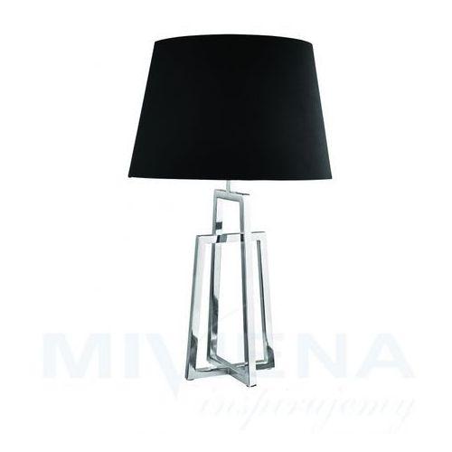 Searchlight York lampa stołowa chrom/czarny