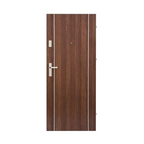 Domidor Drzwi wejściowe iryd 02 orzech premium 80 prawe (5907479330308)