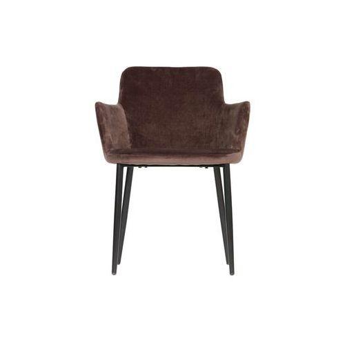 Woood krzesło tatum velvet ciemnooszare 373794-t