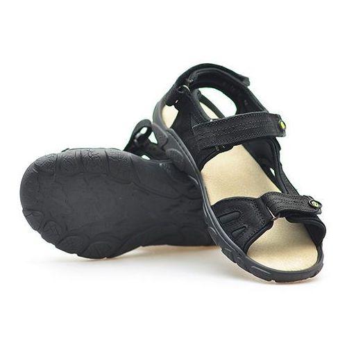 Sandały Lesta 142-1177-0-1017 Czarne nubuk, kolor czarny