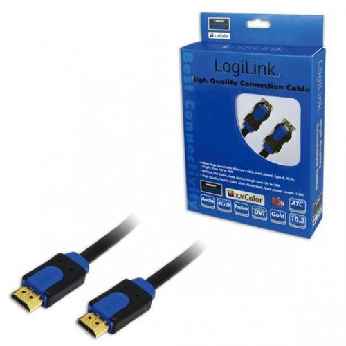 Kabel HDMI LogiLink CHB1102 High Speed Ethernet, 2m, CHB1102