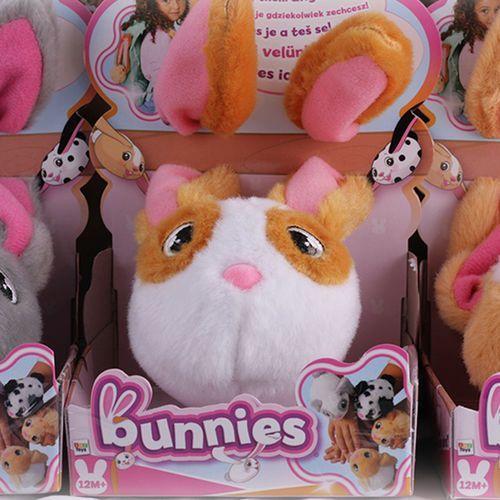Tm toys Bunnies króliczek magnetyczny | miękki pluszowy - biało-brązowy