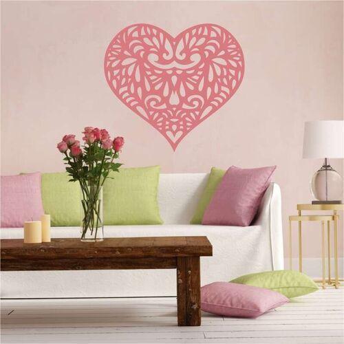 szablon na ścianę serce 2337