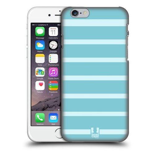Etui plastikowe na telefon - paski jasne niebieskie marki Head case