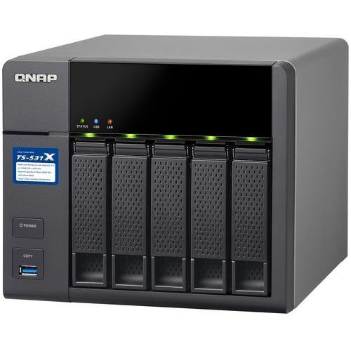 QNAP TS-531X-8G - Cortex-A15 / 8 GB / 2+2 x Gigabit + 10 Gigabit LAN / 5-dyskowy