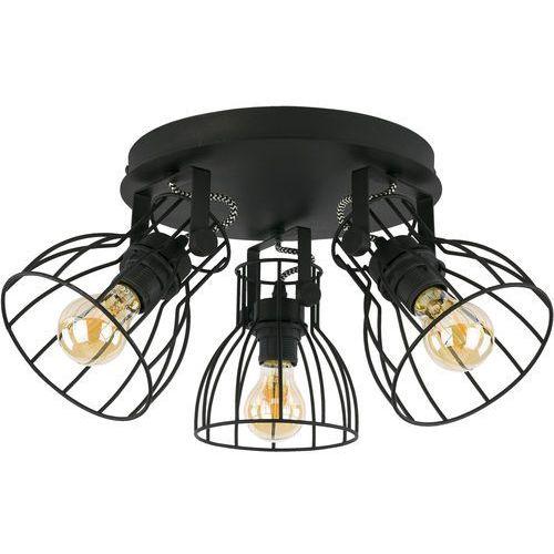 Tklighting Plafon lampa sufitowa druciana spot tk lighting alano 3x60w e27 czarny 2123 (5901780521233)