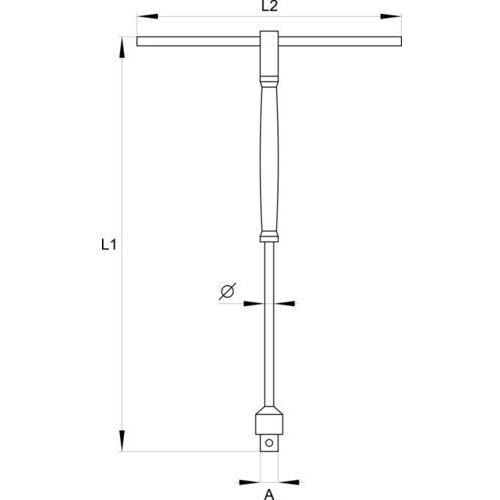 Yato Adapter typu t'' z obrotową rączką 3/8'' / yt-1566 / - zyskaj rabat 30 zł