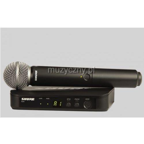 Shure BLX24/SM58 SM Wireless mikrofon bezprzewodowy doręczny SM58, pasmo H8E