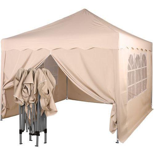 Instent ® Ekspresowy beżowy pawilon namiot ogrodowy 3x3m + 4 ścianki - beżowy (30030338)