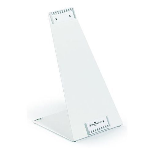 Durable Stojak stołowy, pokryty tworzywem, kształt l, puste, na 10 tablic. do mocowania