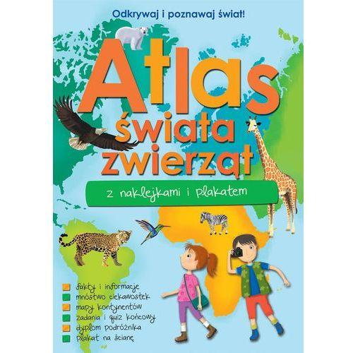 Atlas zwierząt świata z naklejkami i plakatem - jeśli zamówisz do 14:00, wyślemy tego samego dnia. darmowa dostawa, już od 300 zł. marki Praca zbiorowa