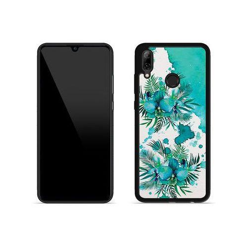 Huawei P Smart (2019) - etui na telefon Aluminum Fantastic - turkusowa orchidea, kolor niebieski