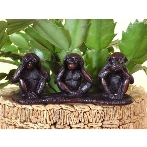 Figurka - trzy cydowne małpy - kamień marki Veronese