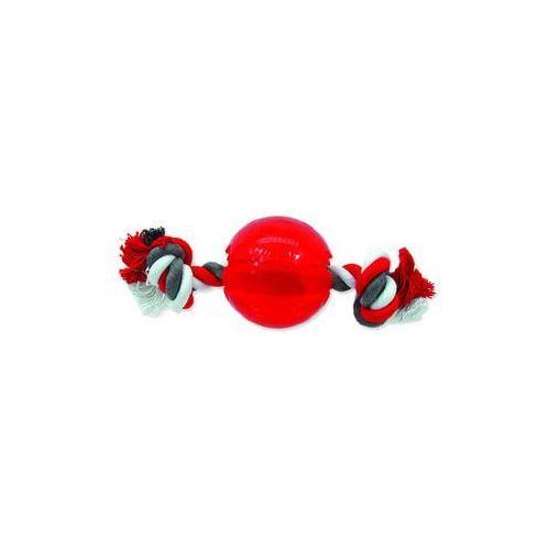 Zabawka dog fantasy strong piłeczka gumowa na sznurze czerwona 9,5 cm marki Plaček