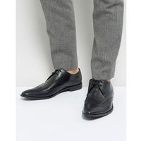 Frank Wright Wing Tip Brogue Shoes In Black Leather - Black