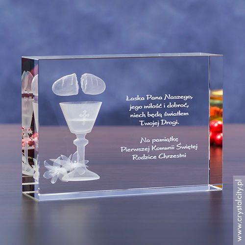 Pamiątka Komunii »chleb i lilie« średnia • statuetka 3D personalizowana
