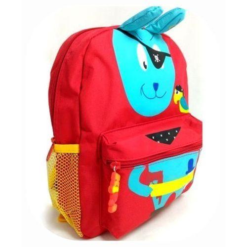 Plecaczek MiniKids czerwony ZAJĄCZEK PIRAT Belmil, kolor czerwony