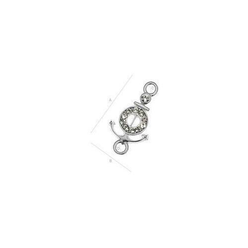 Charms Kotwica z kamieniami Swarovskiego, srebro 925 S-CHARM 109