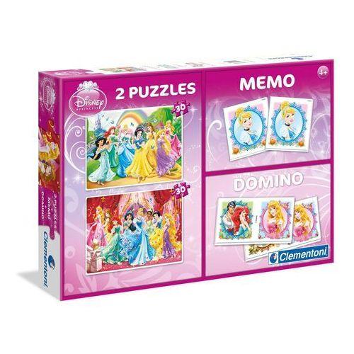 zestaw księżniczki (2 x 30 elementów memo domino) marki Clementoni