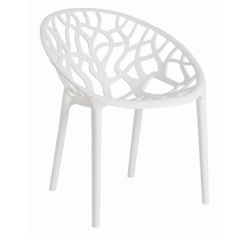 Krzesło Coral - biały, kolor biały