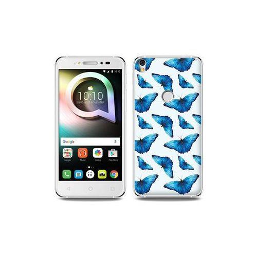 Alcatel Shine Lite - etui na telefon Fantastic Case - niebieskie motyle