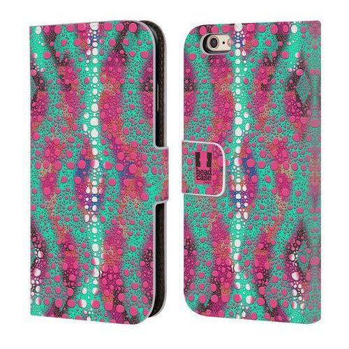 Etui portfel na telefon - Chameleon Skin Patterns Mint And Pink, kolor różowy