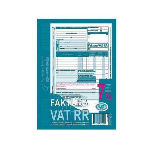 Faktura vat rr dla rolników a5 typ 185-3 80k marki Michalczyk i prokop