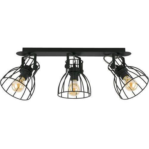 Listwa lampa sufitowa druciana plafon spot tk lighting alano 3x60w e27 czarna 2122 marki Tklighting