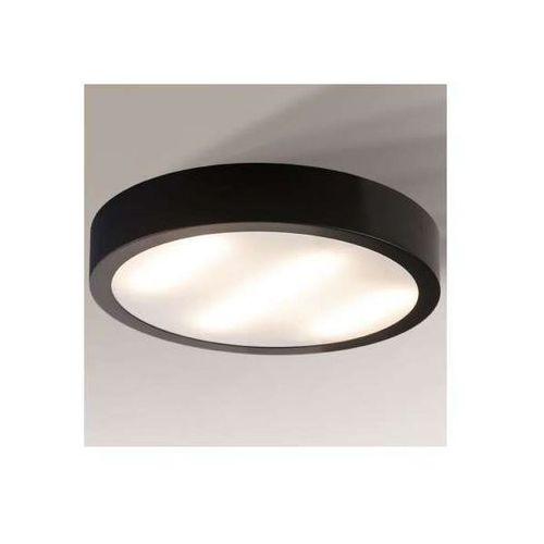 Shilo Plafon lampa sufitowa nomi 8021/2g11/cz łazienkowa oprawa okrągła ip44 czarna
