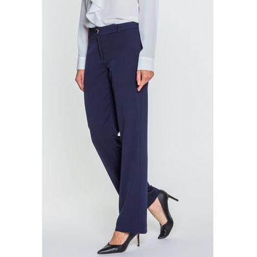 Granatowe spodnie w kant - SU