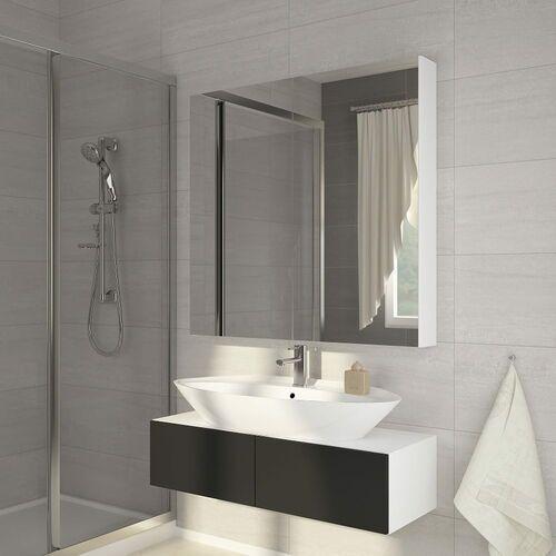 Szafka łazienkowa Della 80 z lustrem biała, kolor biały