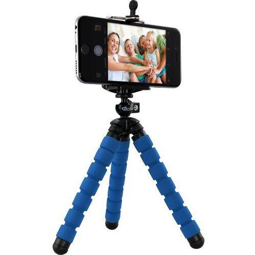 Rollei Selfie Mini – elastyczny Mini statyw z głowicą i smartfona adapter, niebieski (4048805226207)