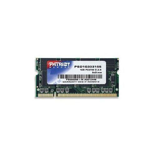 Patriot Signature 1GB DDR 333MHz CL-2.5 Non-Ecc SODIMM PSD1G33316S - odbiór w 2000 punktach - Salony, Paczkomaty, Stacje Orlen