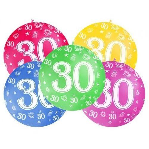 Balon lateksowy 30th birthday 100cm 1szt marki Twojestroje.pl
